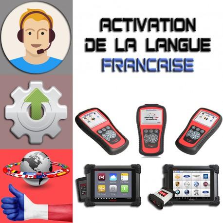 Activation produit + changement langue